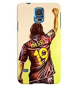 Omnam Messi Back In Jersy Printed Designer Back Cover Case For Samsung Galaxy S5