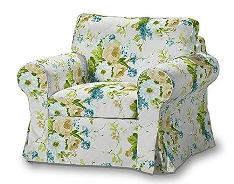 FRANC-TEXTIL 612-141-15 Ektorp sillón funda, funda sillón, sillón Ektorp, Mirella, azul/beige