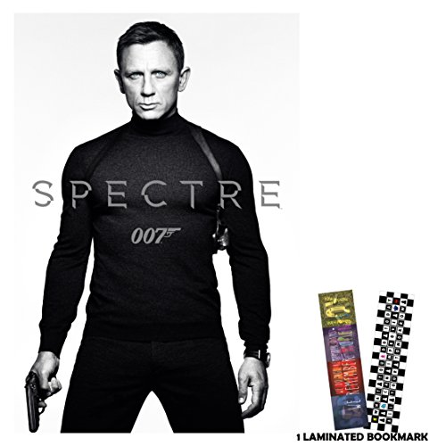 "Spectre 007 (2015) - BW James Bond - Movie Poster Reprint 13"" x 19"" Borderless + FREE 1 Laminated Bookmark"