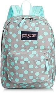 JanSport Superbreak Backpack (Grey Rabbit Sylvia Dot)