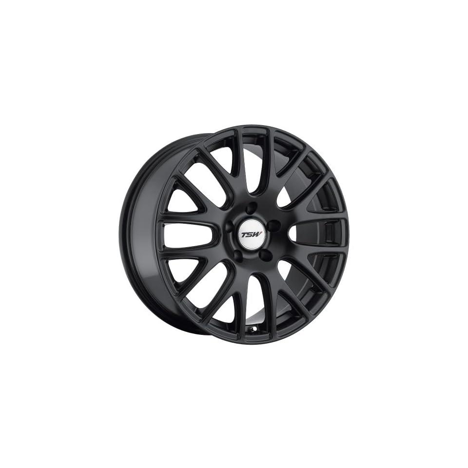 TSW Mugello 18 Black Wheel / Rim 5x4.25 with a 40mm Offset and a 72 Hub Bore. Partnumber 1880MUG405108M72