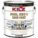 KILZ Exterior Siding, Fence, and Barn Paint, White, 1-gallon (Color: White)