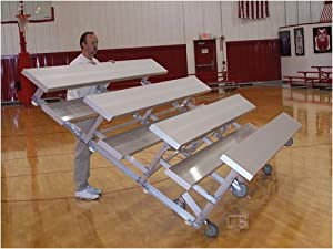 7 6 Tip N Roll Portable Indoor Outdoor Bleachers 4 Rows by Gared Sports, Inc.