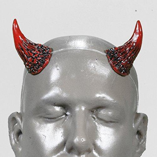 Wicked v1 Red & Black Devil Horns w/ adjustable, self locking clear headband by Pan's Devil Horns