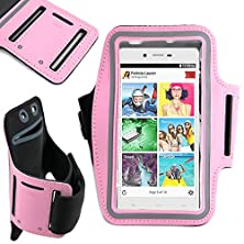 buy Duragadget Exclusive Unisex Sports Armband In Pink - Running, Cycling & Gym Smartphone Case For The New Blu Studio Energy, Blu Studio X, Blu Studio X Plus, Blu Studio G, Blu Life One (2015) & Blu Studio C Mini
