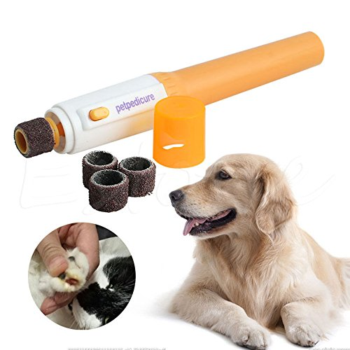 NEW! Electric Dog Cat Pet Claw Toe Nail Trimmer Tool Care Grooming Grinder Clipper (Jaws Grinder compare prices)
