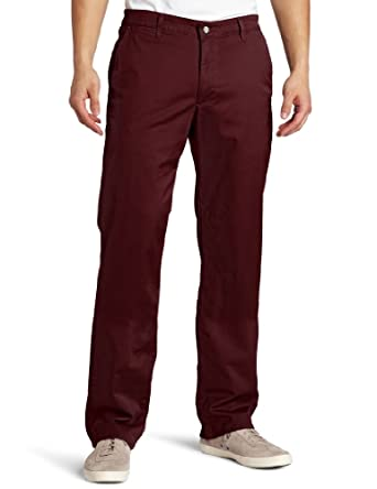 AG Adriano Goldschmied Men's Straight Leg Chino Pant, Wine Orchard, 33