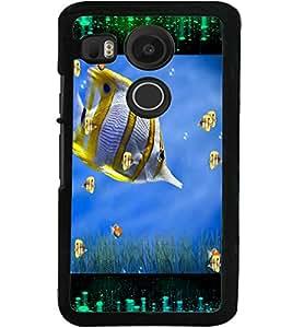 ColourCraft Beautiful Fish Design Back Case Cover for LG GOOGLE NEXUS 5X