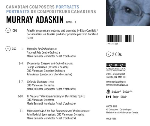 Canadian Portraits: Murray Adaskin [Canada]