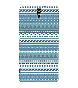 Check Tribal Lines 3D Hard Polycarbonate Designer Back Case Cover for Sony Xperia C5 Ultra Dual :: Sony Xperia C5 E5553 E5506 :: Sony Xperia C5 Ultra