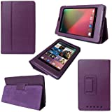 MOFRED® Purple New Google Nexus 7 2 II Tablet (Launched July 2013) Case-MOFRED® Executive Multi Function Standby Case with Built-in Magnet for Sleep / Wake feature for the Google Nexus 7 II-2nd Generation Tablet 16GB or 32GB ,Qualcomm Snapdragon S4 1.5GHz Processor, 2GB RAM, WLAN, NFC, BT, 2x camera, Android 4.3 + Screen Protector + Stylus Pen (Available in Mutiple Colors)
