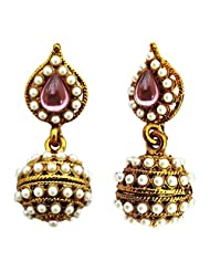Auura Collection Pearl With Gold Plated Earrings