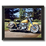 1954 Panhead Harley Davidson Motorcycle Home Decor Wall Picture Black Framed Art Print