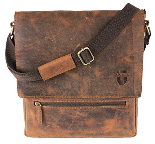 RICANO  ETAN, Borsa Messenger  Unisex adulto marrone vintage marrone