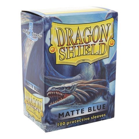 Dragon Shield Matte Blue 100 Deck Protective Sleeves in Box, Standard Size for Magic he Gathering (66x91mm) (Mtg Blue Dragons compare prices)