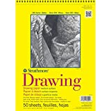 Strathmore 340110 70-Pound 50-Sheet Drawing Paper Pad, 11 by 14-Inch