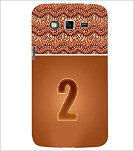 PrintDhaba Numerology Number 2 D-3634 Back Case Cover for SAMSUNG GALAXY GRAND 2 (Multi-Coloured)