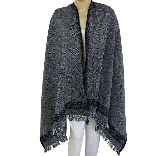 Women Scarves Scarves Wrap Shawl Embroidery Pattern Wool Size: 203 x 101 Cm