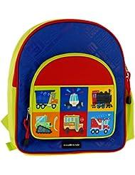 "Crocodile Creek Kids Eco Vehicle School Backpack, Blue, 14"""