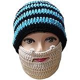 Valentine's Day Gift Sportown Unisex Ski Wacky Beard Knit Winter Hat Beanie