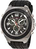 U.S. Polo Assn. Sport Mens US9024 Black Textured Strap Analog Digital Watch