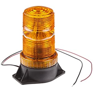 Strobe Light, Led Bulb, ABS Base, 12-80V, Amber Lens: Led