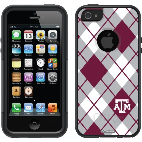 Great Price Texas A&M University - Argyle design on a Black OtterBox® Commuter Series® Case for iPhone 5s / 5