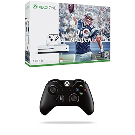 Xbox One S 1TB Console - Madden 17 Bundle + Black Xbox One Wireless Controller
