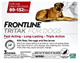 Frontline Tritak for Dogs and Puppies, 89-132 lbs 3 Month Supply
