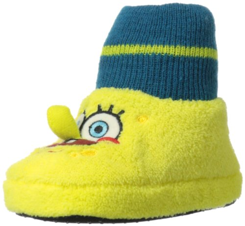 Nickelodeon Dora The Explorer Spongebob Sock Top W Smiley Sneaker (Toddler),Yellow,9-10 M Us Toddler