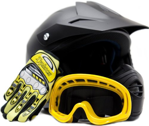 Youth Offroad Helmet Gloves Goggles GEAR COMBO