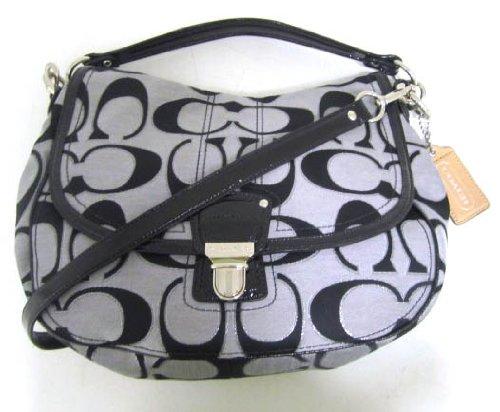Coach Silver Signature Logo Shoulder Bag 47