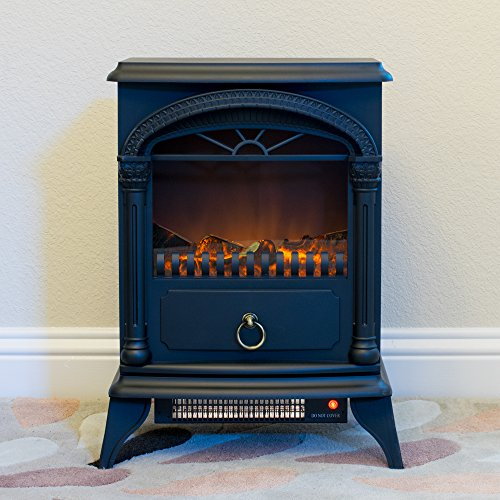 Hamilton 22 Inch Portable Free Standing 1500w Electric Fireplace Stove With Realistic Fire And