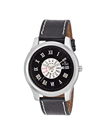 Vego Analog Black Dial Day Date Watch For Men's (AGM207DD)