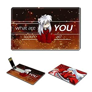 16GB USB Flash Drive USB 2.0 Memory Credit Card Size Anime Inuyasha Comic Game Customized Support Services Ready Inuyasha 001