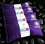 Happy Wraps® Yoga Flax Seed Eye Pillows Unscented - 4 Pieces - Purple Cotton