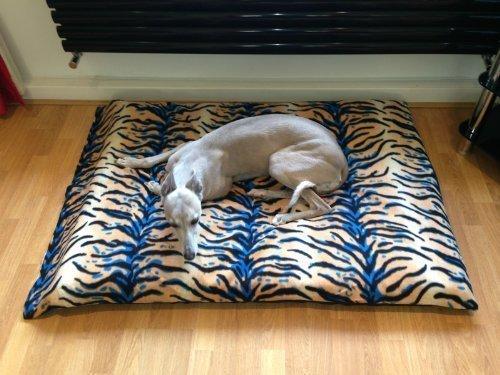 Artikelbild: Kosipet extragroße Ersatzdecke aus Fleece für Hundebett, getigert, Haustierbett, Hundebett