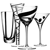 LSA SET 4 JAZZ COCKTAIL GL ASST BLACK DECORS