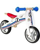 BIKESTAR® 17.8cm (7 pouces) Bois Vélo Draisienne pour enfants ★ Couleur Blanc