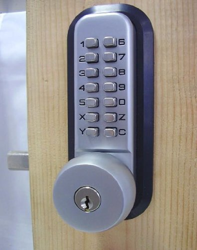 All-Weather Mechanical Keyless Deadbolt Door Lock - Satin Nickel, #409