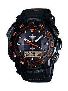 Casio PRG-550-1A4ER - Reloj analógico y digital de cuarzo para hombre con correa de resina, color negro