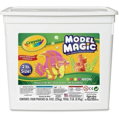 NEW - Model Magic Modeling Compound, 8 oz each/Neon, 2 lbs - 232413 model magic modeling compound 8 oz each neon 2 lbs by crayola catalog category paper pens
