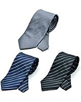 (グリニッジ ポロ クラブ)GREENWICH POLO CLUB ネクタイ3本 セット ビジネス 無地 柄 洗濯ネット付