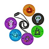 LED Light Up Halloween Necklace - Set of Six! Perfect for Trick or Treat; Classroom Giveaways; Party Favors