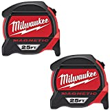 Milwaukee 48-22-7125G-2 - 25 ft. Premium Magnetic Tape Measure (2-Pack)