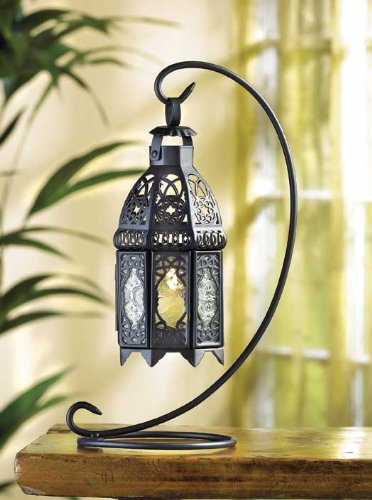 30 Wedding Black Moroccan Lantern with Stand