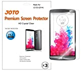 LG G3 Screen Protector - JOTO LG G3 Screen Protector Film, Ultra Crystal Clear (Invisible) version Screen Guard for 2014 LG G3 smartphone with Lifetime Replacement Warranty, ATT, Verizon, Sprint, T-Mobile, International and Unlocked (3 Pack)