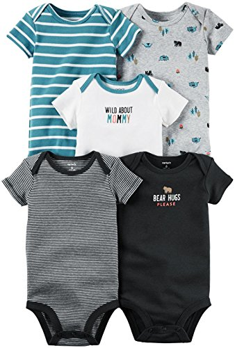 Carter's Baby Boys Multi-Pack Bodysuits 126g248, Assorted, 24 Months