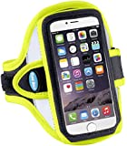 "Armband for iPhone 6 (4.7""), Samsung Galaxy S4 and Galaxy S3 - Also fits HTC One (M7), Moto X and more - Reflective Day Glow Yellow"