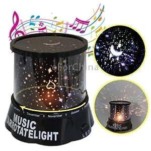 Auto-rotating Music Sky Star Master Night Light Projector Lamp